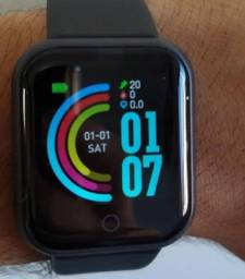 Smartwatch D20-Calorias, batimento cardíaco, notificação de mensagem e chamada