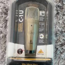 Título do anúncio: Microfone Behringer C-1u Condensador Usb