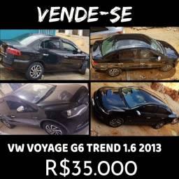 Título do anúncio: Vendo VW Voyage G6 Trend 1.6 completo