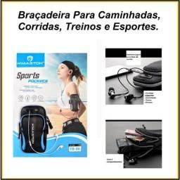 Título do anúncio: Braçadeira Pochete Suporte Braço Para Celular Chave No Treino e Caminhada