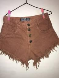 Título do anúncio: Short jeans na cor marrom
