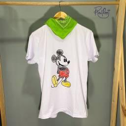 Camisa Mickey - pintada à mão