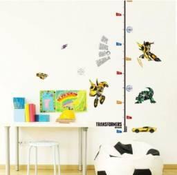 Régua de parede altura infantil transformers