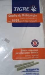 Tigre quadro distribuição p/ 18/24 disjuntores c/barramento, original