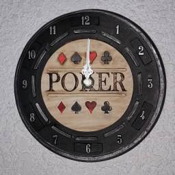 Relógio de Parede Artesanal Poker
