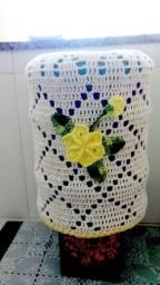 Capa para garrafão de água em crochê 20L