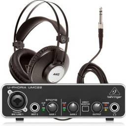 Placa e Interface de Áudio Behringer Nova