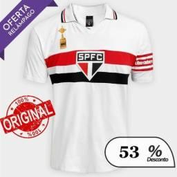 a356584133068 Camisa Polo São Paulo Capitães Libertadores 1992 Masculina - Branco - COD.10
