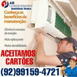 Limpeza Instalação Manutenção de ar condicionado Split