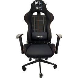 Cadeira Gamer Giratória - Mymax - MX6 - Preto & Laranja