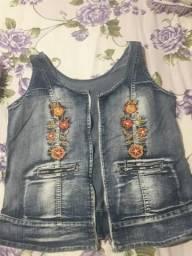 Jaquetinha jeans - Veste M/G - Só 10 reais