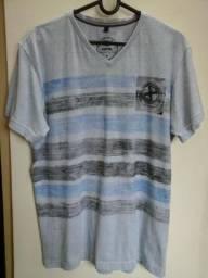 Camisa Fatal Surf. Original, gola V, cor cinza, tamanho (M), semi nova