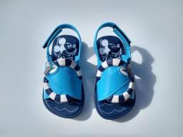 Sandália papete grendene kids menino tamanho 22