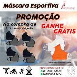 Kit 04 Máscaras Esportivas - (Promoção c/ brinde)