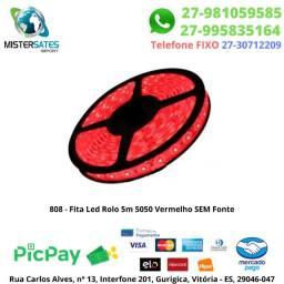 808 - Fita Led Rolo 5m 5050 Vermelho sem fonte