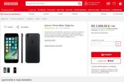 Iphone 7 black matte 128 gb ios 14.1 troco por android leia