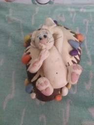 Enfeite Páscoa de porcelana