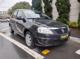 Renault Logan Authentique Flex Preto Com Direção 2013