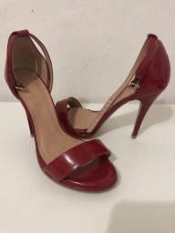 Sandália Salto Vermelha