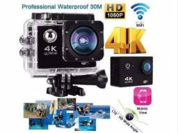 Camera Prova D'agua 4K Wi-fi Sports Go 16mp Ate 64gb Full HD