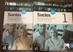 Conjunto de Espanhol Socios (A1-A2) + CD