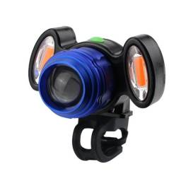 Lanterna Bike Farol Dianteiro 1400 lumens com cob vermelho a mais forte da categoria
