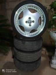 Vendo jogo de roda 17 com pneus novo
