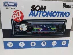 Som Automotivo com Bluetooth, USB, Fm