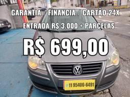 POLO 1.6 ENTRADA R$ 3.000 + PARCELAS  R$ 699,00