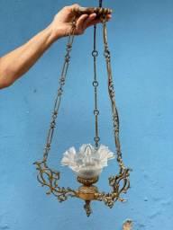 Lustre vintage em bronze maciço