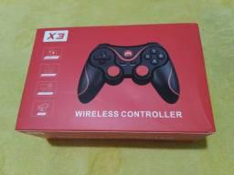 Controle Gamepad Bluetooth novo