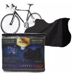 Capa Couro Cobrir Bicibleta Bike Forrada Impermeável Até 29