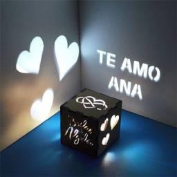 Cubo Luminária Projetora Decora