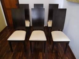 Conjunto c/ 6 (Seis) Cadeiras Mobiliadora Lider. Perfeitas. Móveis de Qualidade. Lindas!
