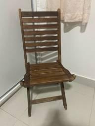 Título do anúncio: Cadeira de madeira dobrável