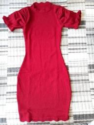 Vestido tricô vermelho