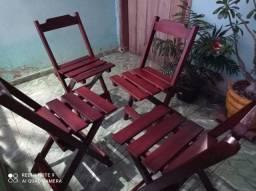 Título do anúncio: Cadeiras Dobráveis- conjunto