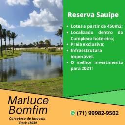 Oportunidade !!! Reserva Sauípe, Lotes a partir de 450m² em Sauípe - Belíssimo