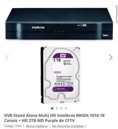 DVR Intelbas 16 Canais + HD 2 TB WD