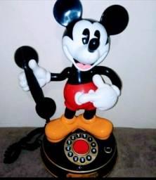 Telefone Mickey Disney Anos 90 Raríssimo Lindo Fala E Mecanismo 100%