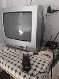TV LG 14 Polegadas Tubo + Conversor Digital e Controle