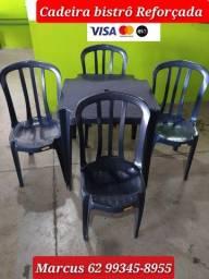 Jogo de Bistrô Cadeira e Mesa Plástico