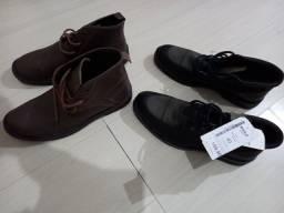 Título do anúncio: Sapatos sociais de couro, botas cano curto de couro