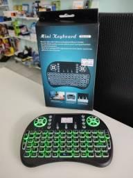 Mini teclado com led para smart tv