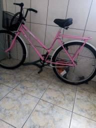 Bicicleta feminina rosa