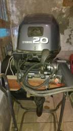Motor popa Yamaha 20hp/4 tempo/partida elétrica