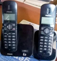 Telefone sem fio Philips CD170 Duo, em bom estado