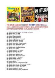 Pen Drive 16GB Gravado 332 CDS Bandinhas do Sul 4400 Musicas Entrega Gratuita