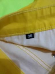 Calça TNG Jeans Amarela Original Tam 36