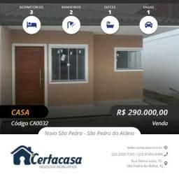 CA0032e - Linda casa linear na Nova São Pedro